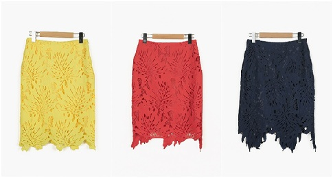 Color Lace Skirt