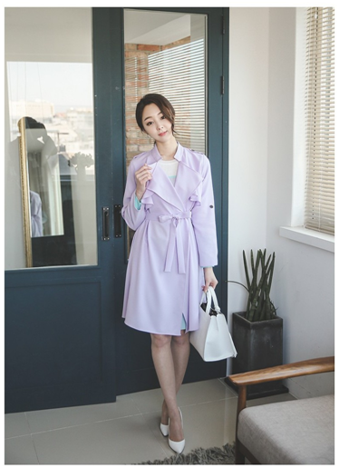 Pastel China Double Wing Trench Coat