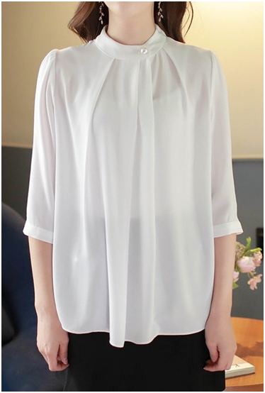 Shirred Pearl Blouse