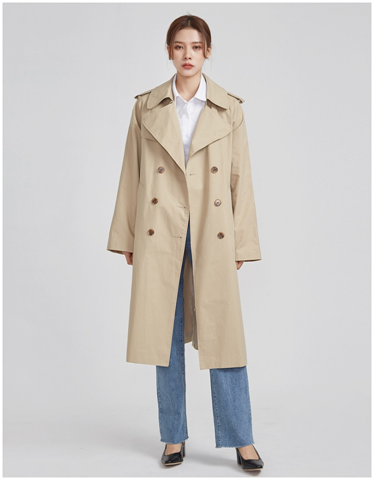 Wide Sleeve Boxy Fit Trench Coat