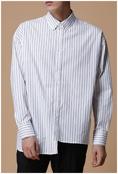 Unbal Over Striped Shirt