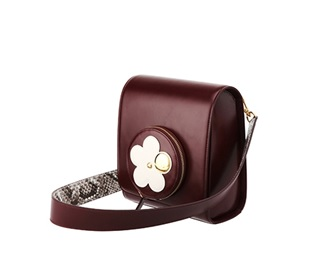 Jacqueline Flower Shoulder Bag Burgundy