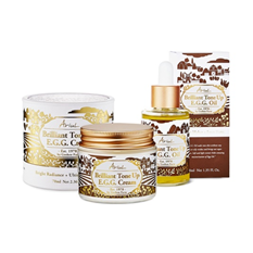 Brilliant Tone Up E.G.G. Cream & Oil Set