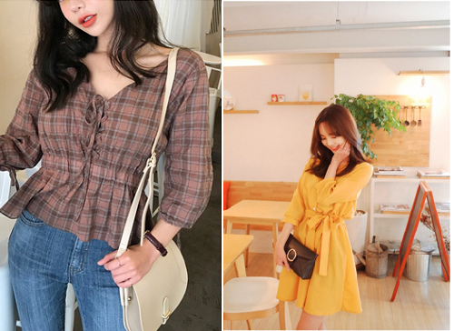 fbf3532922c3 Plaid The once preppy pattern has become an edgy street style in Korean  fashion trends. Plaid styles from skirts to jumpsuits